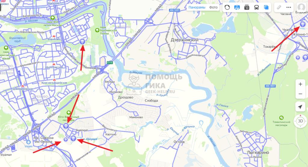 Как в Яндекс Картах на компьютере посмотреть панораму - шаг 5