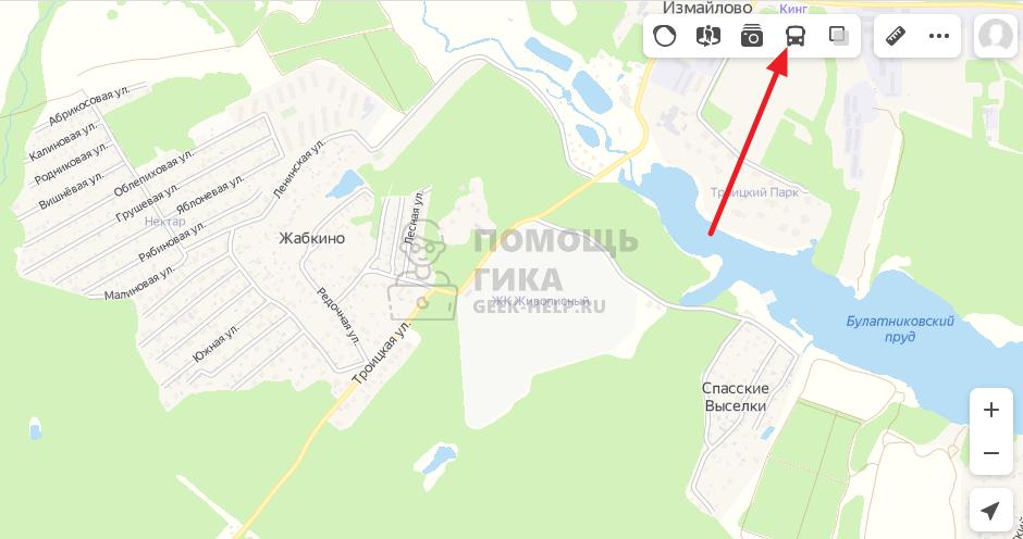 Как в Яндекс Картах посмотреть онлайн движение транспорта на компьютере - шаг 1