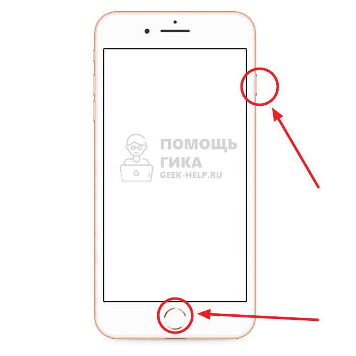 Как сделать скриншот экрана на iPhone SE, 8, 7, 6