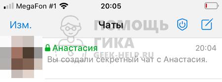 Как выглядит секретный чат в Телеграмме