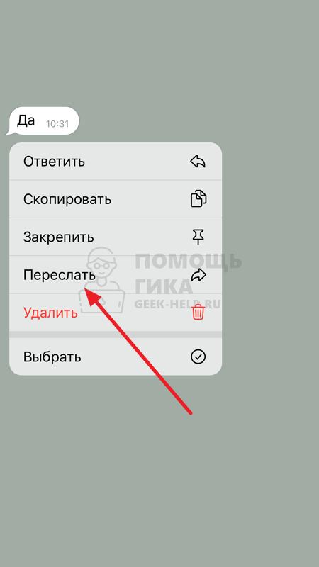 Как сохранить чат в Телеграмм на телефоне - шаг 1