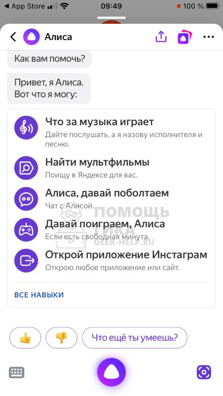 Как использовать Яндекс Алису на телефоне - шаг 2
