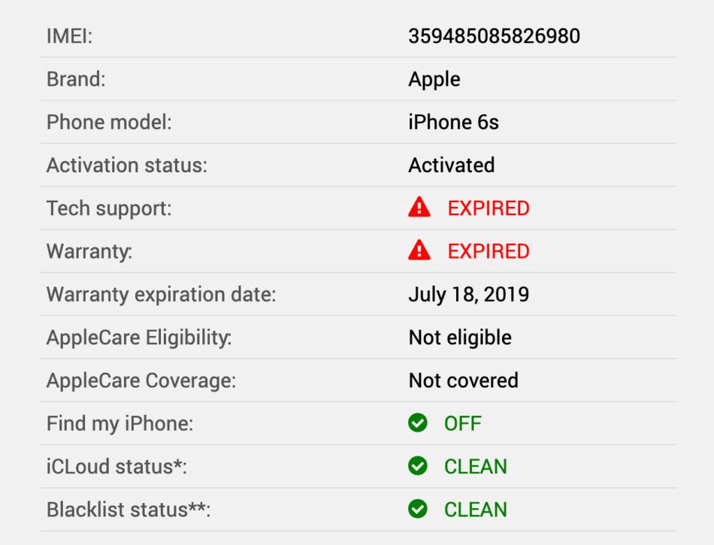 Как проверить iPhone по IMEI на сайте imeipro